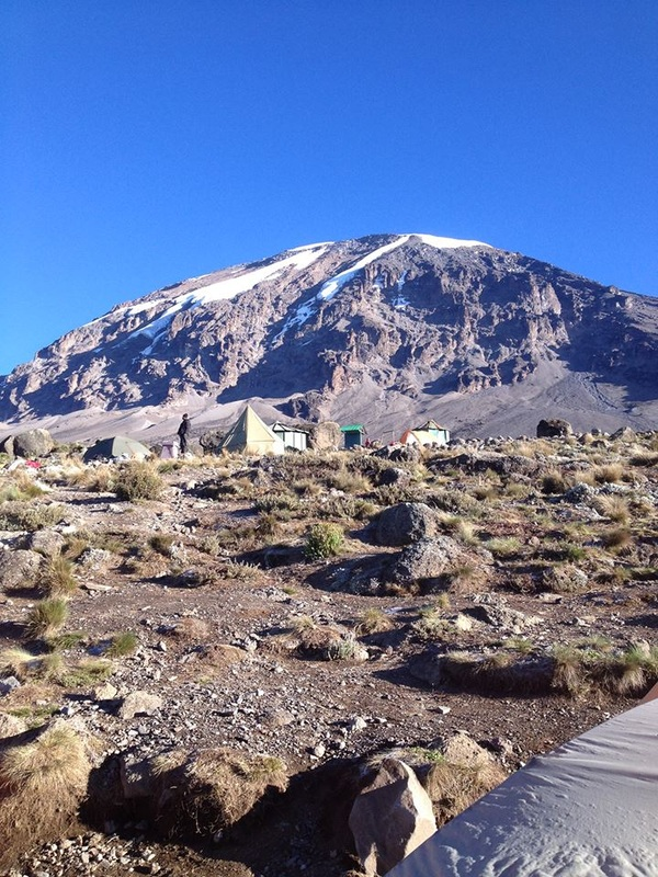 Karanga Camp, Kilimanjaro's last camp before base camp. Climb Kilimanjaro with Samba Treks, a social enterprise committed to porter welfare.