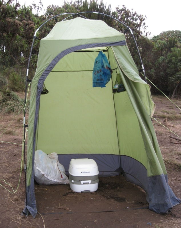 Hmmmm...should you pay the extra money to have a private chemical toilet carried up the mountain? This is a decision you will have to make on your own. & Kilimanjaro bathrooms