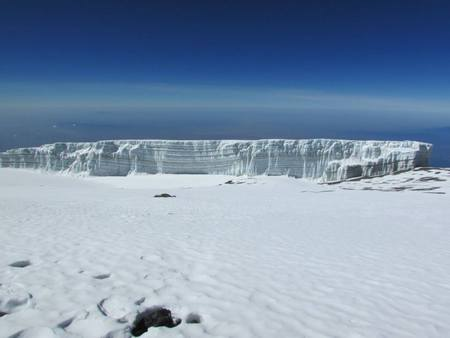 Beautiful glaciers at the summit of Mt. Kilimanjaro, Uhuru Peak.